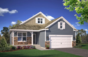 A simply stunning representation of new home architecture - all tucked into a one-level level shines both in and out. Exterior colors of the actual home will vary!