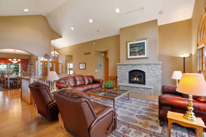 Enjoy curling up in front of a roaring fire in the wood burning fireplace.