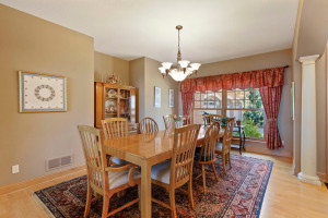 Just off the foyer is a spacious formal dining room - whether you are hosting Sunday evening dinners or a larger holiday gathering, this space is perfect for entertaining.