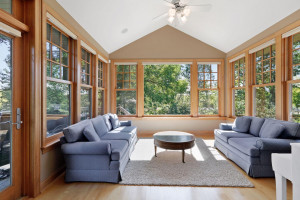 Sit back and relax with a cup of coffee or glass of wine in the sun-filled four season porch.