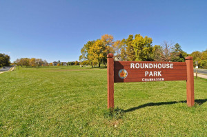 Just a short walk from the home is Roundhouse Park.