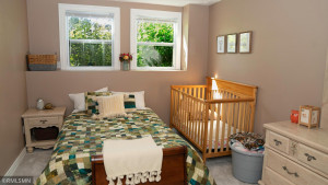 The Lower Level Bedroom has Large Lookout Windows, its own Walk-In Closet and Bathroom as well.