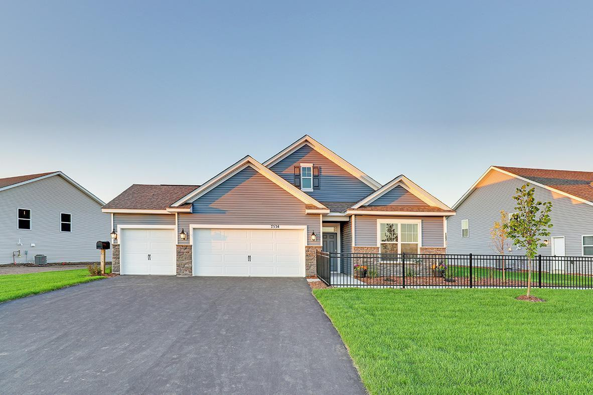 Model home shown, actual home is very similar color scheme.