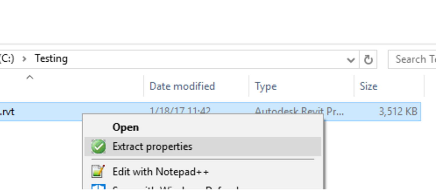 Context menu on Windows Explorer