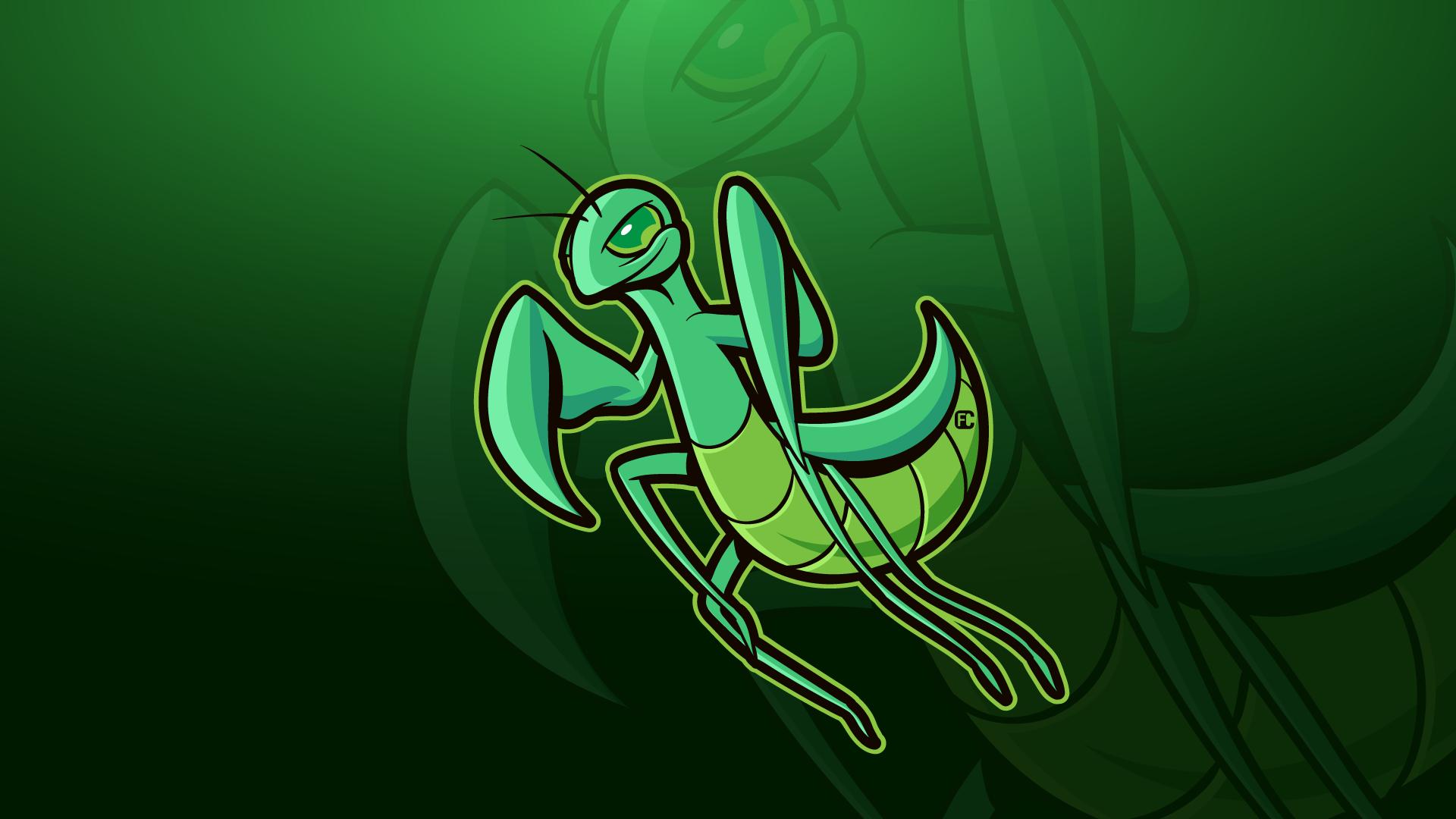 Praying-Mantis-Mascot-Logo-Fllcasts
