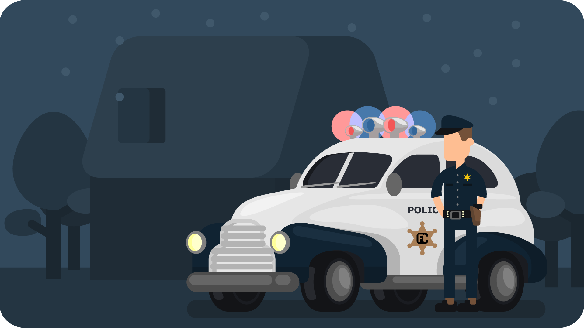 Fllcasts-Police-Light-Car-With-Police-Officer