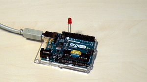 Image for Arduino Basic Course. Blinking diode implementation and demonstration