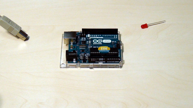Image for Arduino Basic Course. Constructing your first blinking diode device