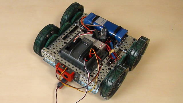 Image for VEX EDR Intro. Arc turn with the VEX robot