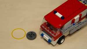 Image for Rubber bands, gear wheels and motors attachment for solving FLL 2013 Truck and Ambulance (part 4)