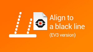 Image for Program for aligning to a black line with a LEGO Mindstorms EV3 robot