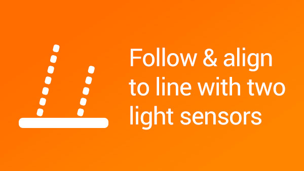 Image for How to align and follow a line with two light sensors