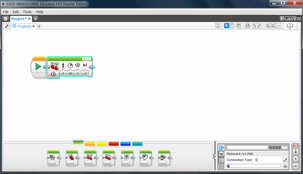 Image for EV3 Phi. Load and start program from the EV3-G software