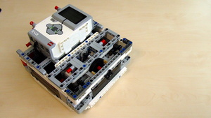 Image for Building the base of the robot and it's body