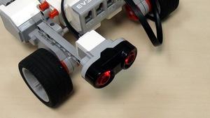 Image for EV3 basics course. Ultrasonic Sensor. Detect object (part1)