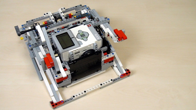 Image for Improving FLL Robot Game. The robot base for Lifting – center of gravity