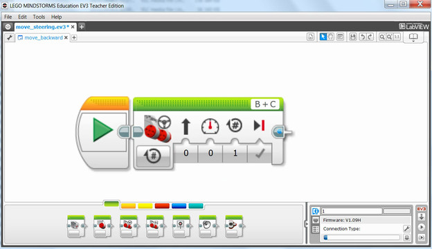 Image for EV3 Phi. Mindstorms EV3-G software Move block. Rotations