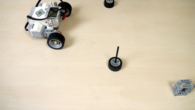 Image for 90-degree turn with LEGO Mindstorms robot