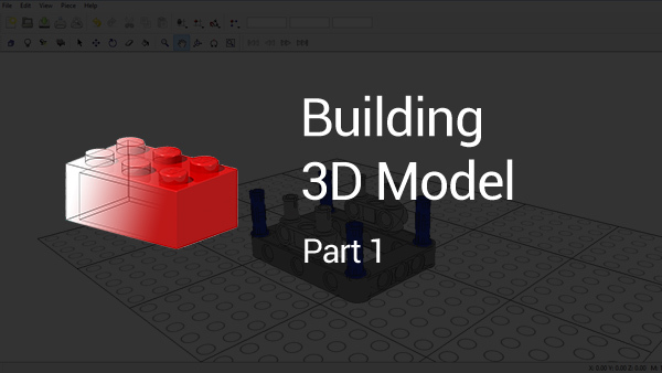 FLLCasts | How to build a 3D LEGO Model using LDraw (part 1)