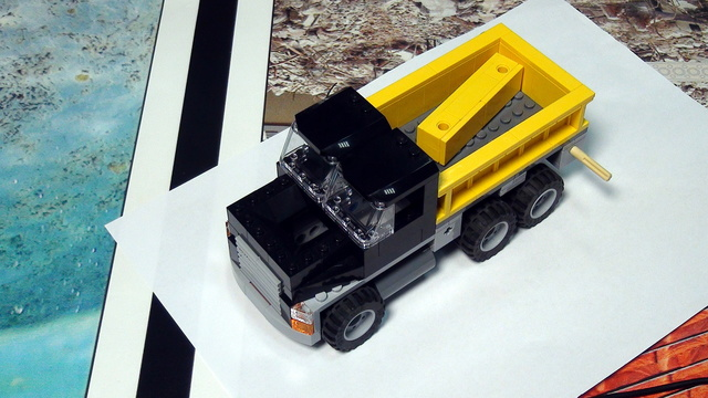 Image for Truck and its cargo. FIRST LEGO League Trash Trek 2015