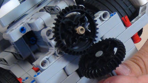 Image for Active attachment for changing gears orientation