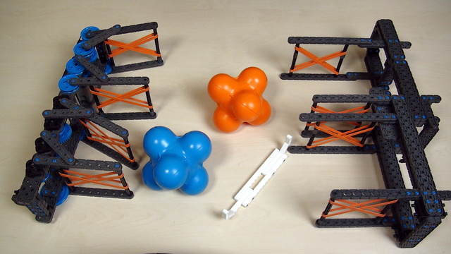 Image for VEX IQ Crossover. Teacher Note. Competition for grabbing, moving and placing objects