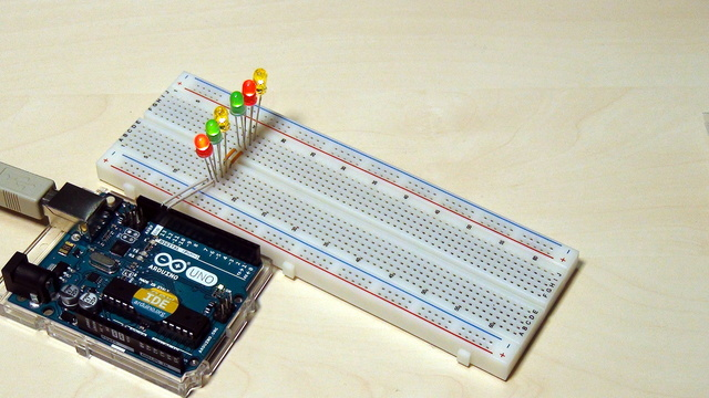 Image for Arduino Basic Course. Tasks for modifications of the device with a blinking diode