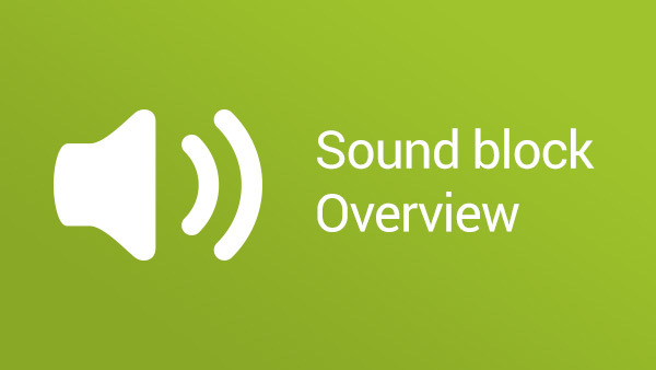Image for LEGO Mindstorms NXT Sound Block Overview