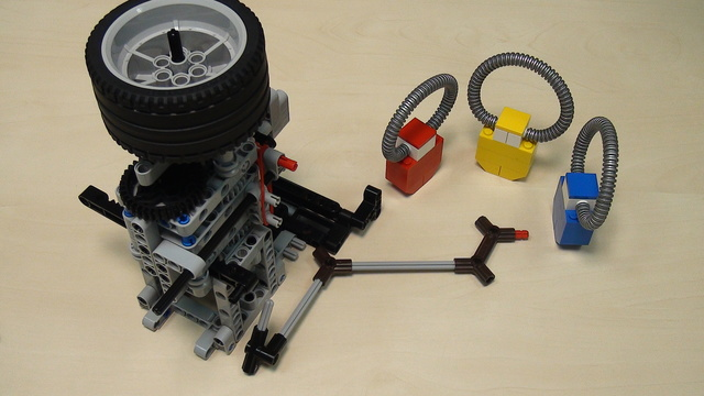 Image for Rubber band attachment with a flywheel - solving FLL 2014 Search Engine (part 3). Two tasks at once