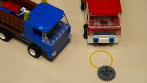 Image for Rubber bands, gear wheels and motors attachment for solving FLL 2013 Truck and Ambulance (part 2)