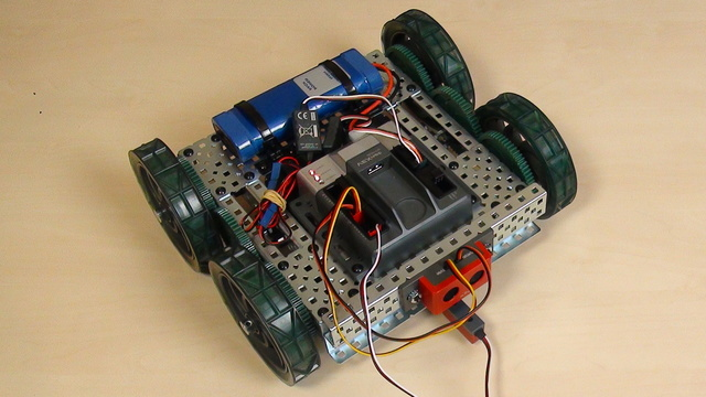 Image for VEX EDR Intro. Experiment with values for turning the VEX robot a number of degrees.