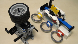 Image for Rubber band attachment with a flywheel - solving FLL 2014 Search Engine (part 1)