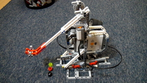 Image for Catapult build from LEGO mindstorms EV3/NXT
