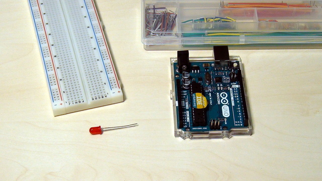Image for Arduino Basic Course. Write your first Arduino program. Use example programs
