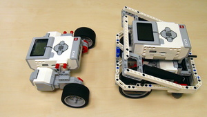 Image for EV3 basics course. Motors control and program from the brick (part3)