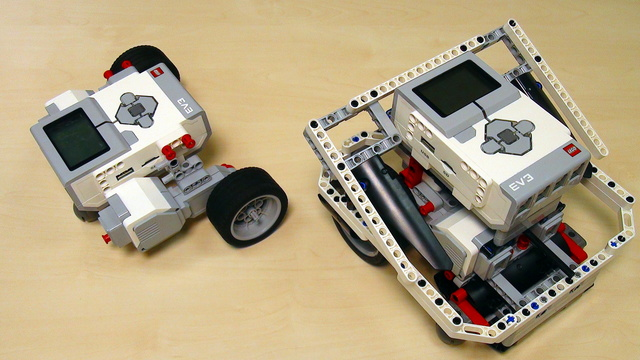 Image for Program using the Move Steering block in EV3-G