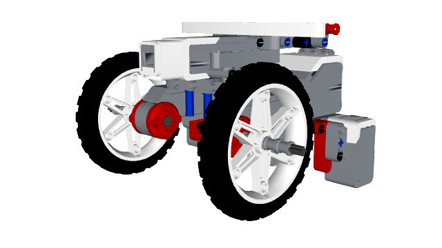 Image for Box Robot Three With Large NXT Wheels