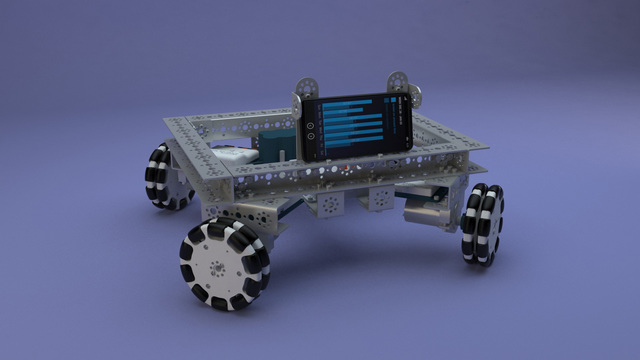 Tetrix Box Robot chassis for FTC competitions