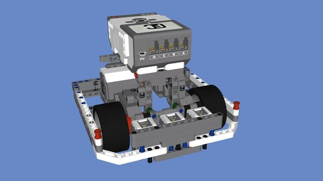 Image for EV3 Competition Robot with 3 color sensors
