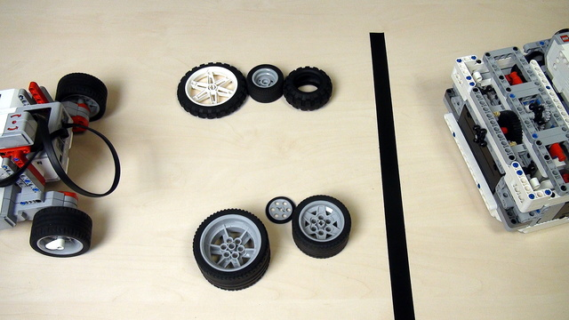 Image for Importance of the wheels and tires on the LEGO Mindstorms robot movement