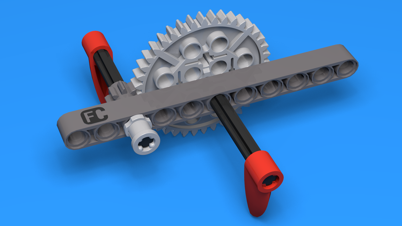 Image for Simple Lego Gear System with 1:5 ratio