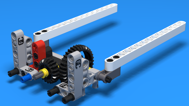 Image for Active attachment for changing gear orientation - part 3