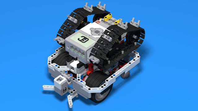 Image for WRO Robot with chains for pingpong
