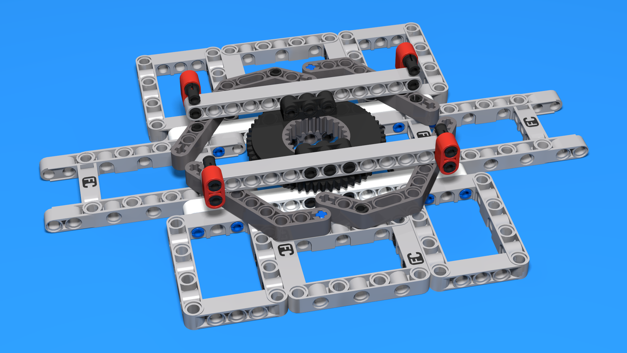 Image for Catapult Rotating Base - LEGO Mindstorms construction for a base for a catapult