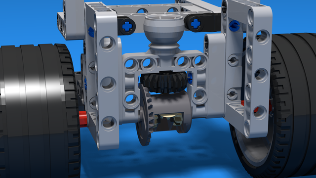Image for BigDaddy Rear Wheels - differential construction for the rear wheel for a LEGO Mindstorms Robot