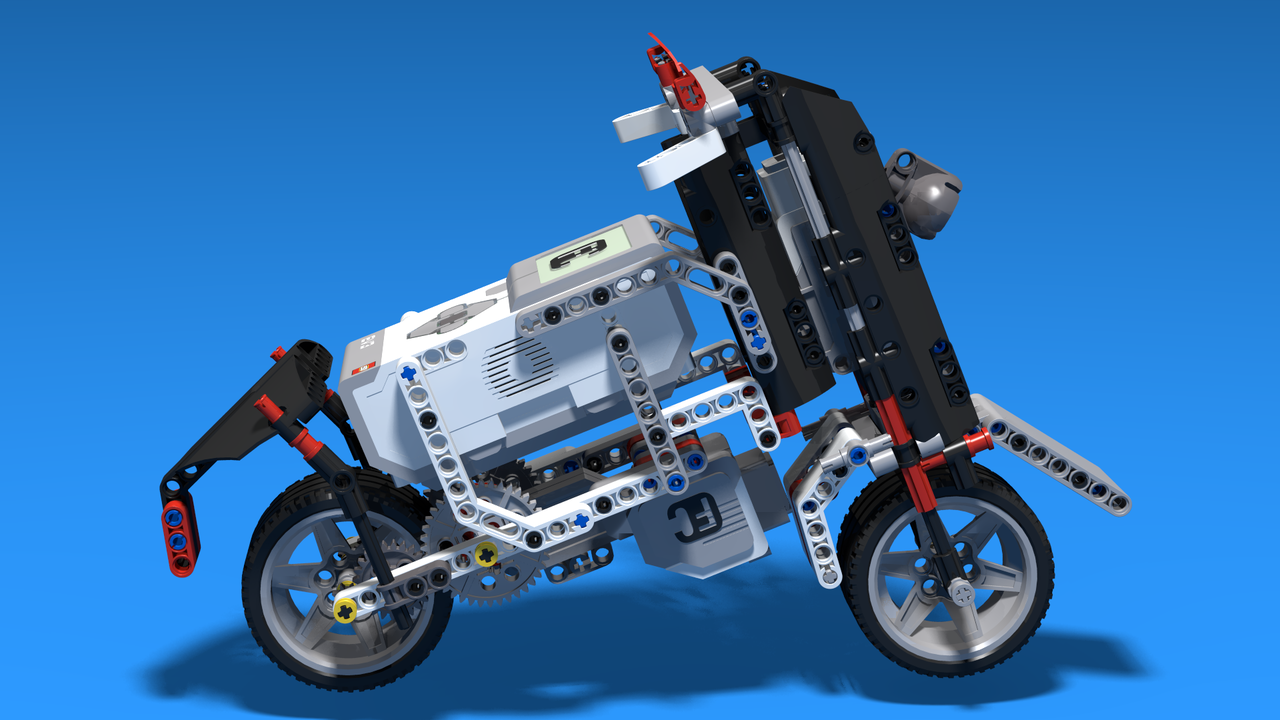 Picture of Handlebar - Chopper Motorcycle built with LEGO Mindstorms EV3