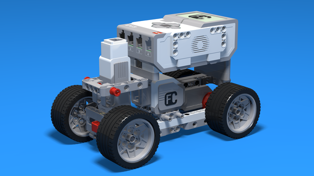 Image for Small Boomer - LEGO Mindstorms Car with two-wheel drive with one large motor