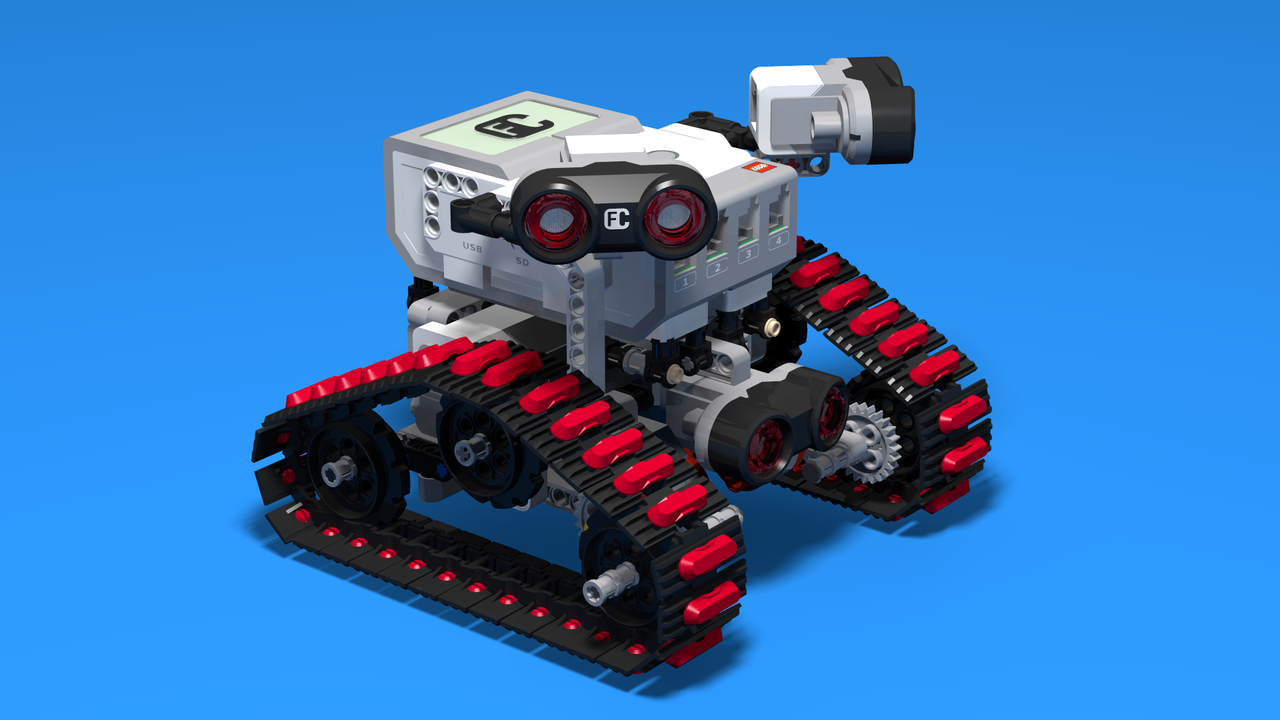 Image for Freedom - Folk Race tank robot with Treads and Three Ultrasonic Sensors