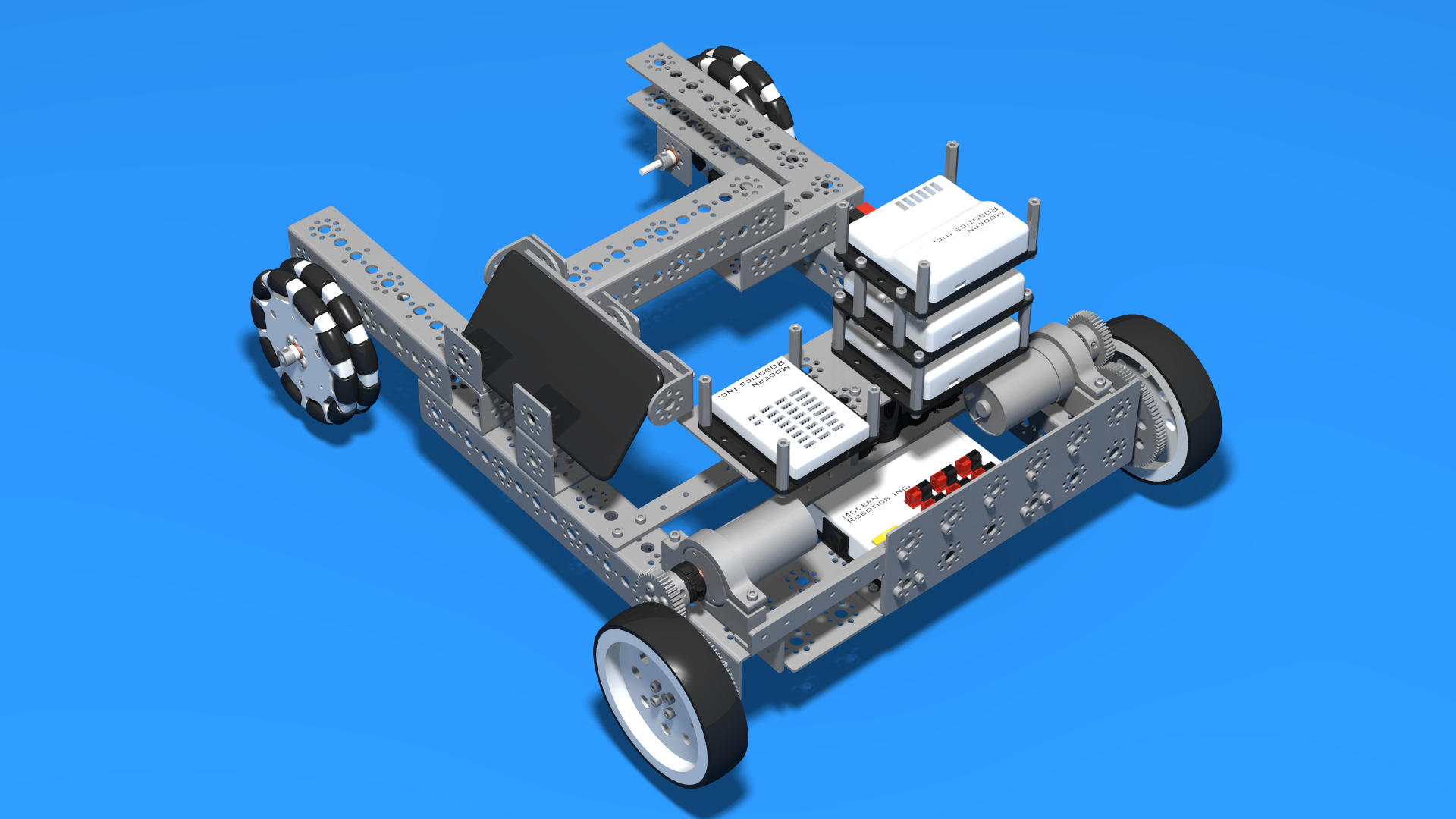 FLLCasts   FTC Push Bot Chassis from Tetrix