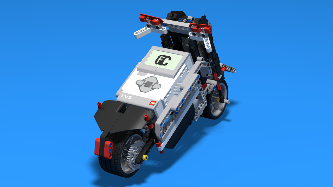 Image for Shotgun - Sports Motorcycle with assistant wheels built with LEGO Mindstorms EV3